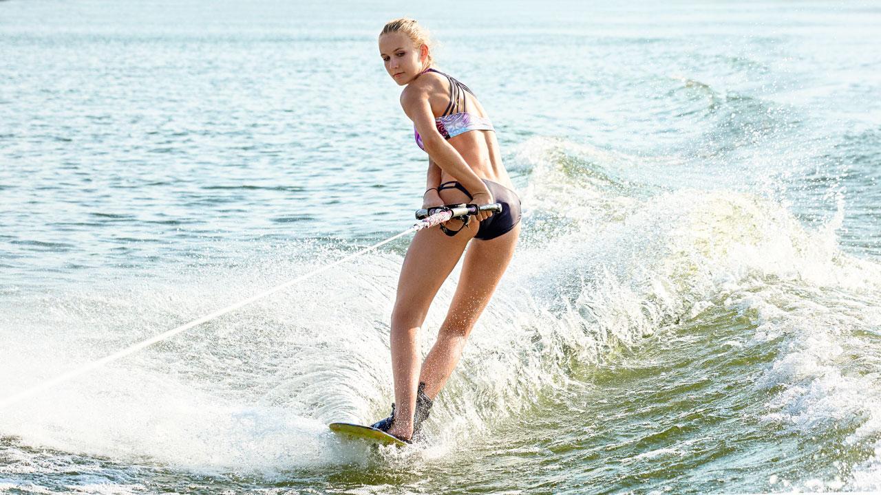 Wasserski-Läuferin Kim Helen Niederbäumer