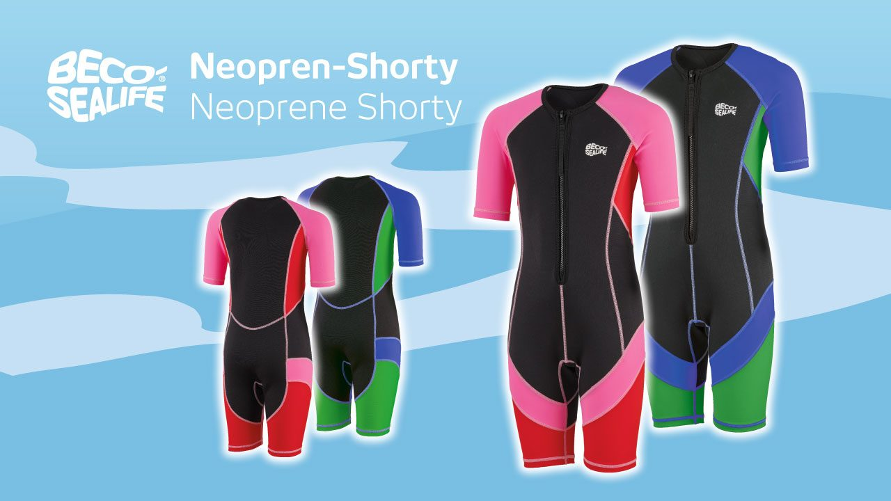 Children's swimsuits with neoprene