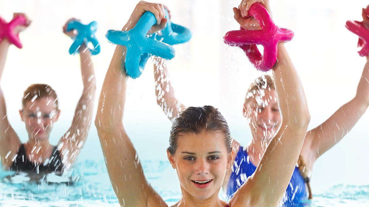 Das ideale Aquaitic-Fitness-Gerät für Ober- und Unterkörper.