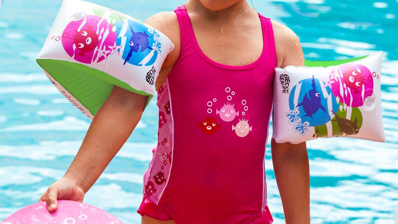 Die beliebte Schwimmhilfe gibt es auch im fröhlichen BECO-SEALIFE®-Design