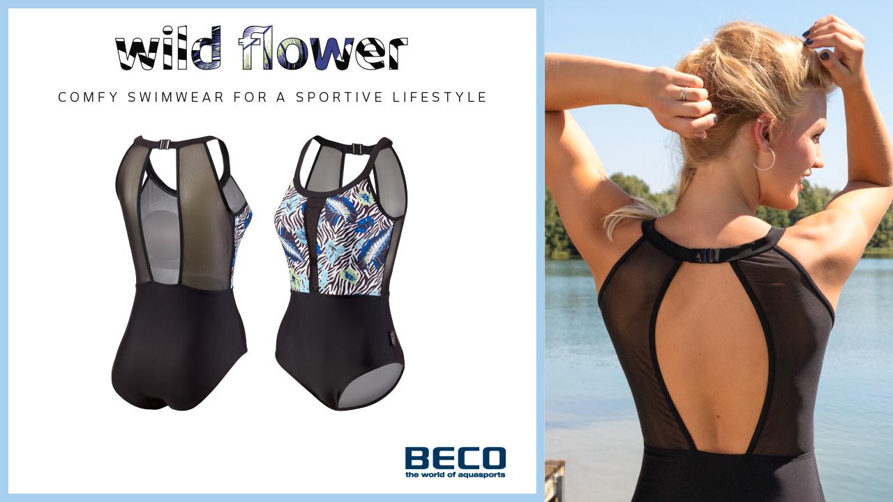 Komfortabler Clipback-Badeanzug mit aufregendem Rückenausschnitt