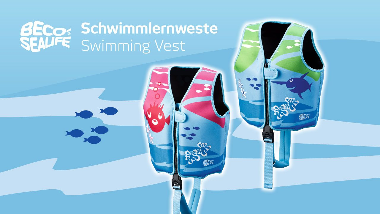 The swim vest for little novice swimmers