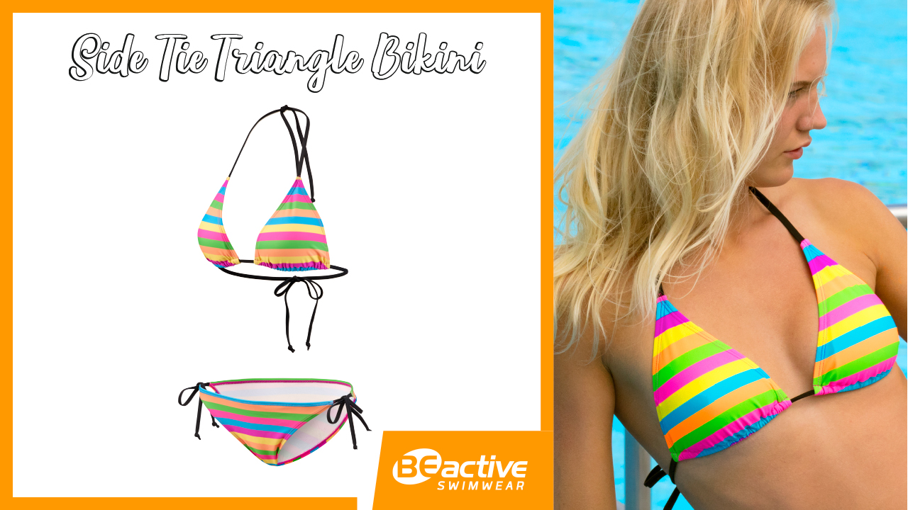 Pop Colour // Side Tie Triangle Bikini