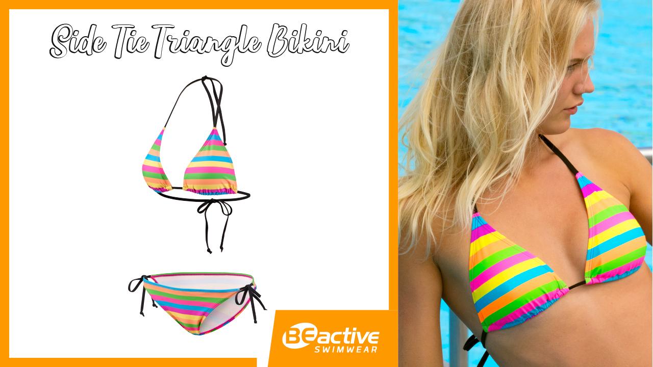 Pop Colour // Side Tie Triangle Bikini